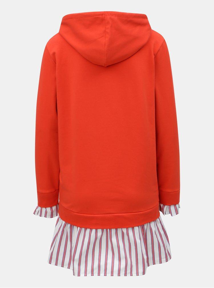 Červené mikinové šaty s kapucí Rich & Royal