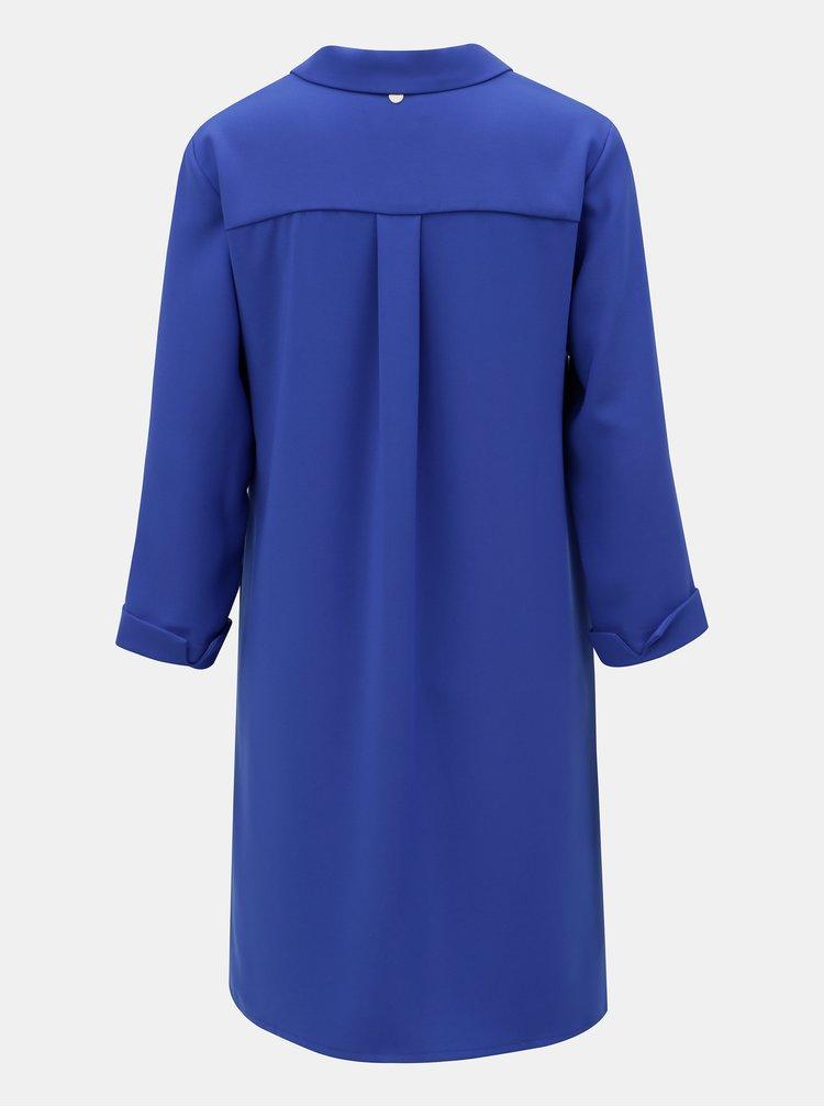 Modré šaty s vreckami a 3/4 rukávom Rich & Royal