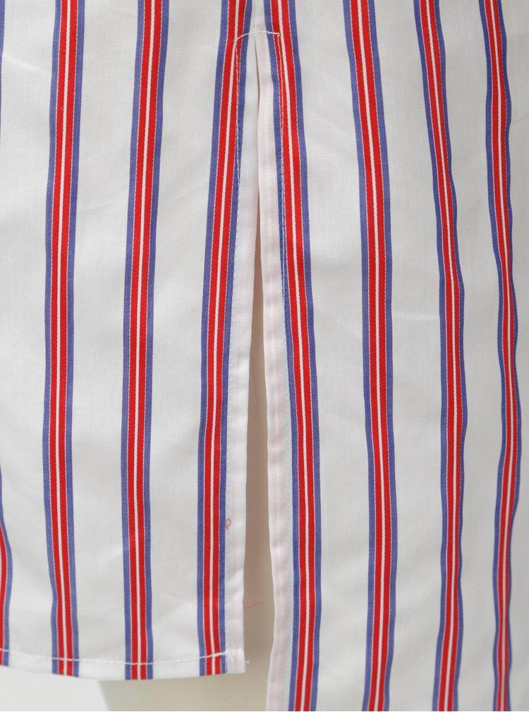 Červeno-bílá pruhovaná košile s rozparky Rich & Royal