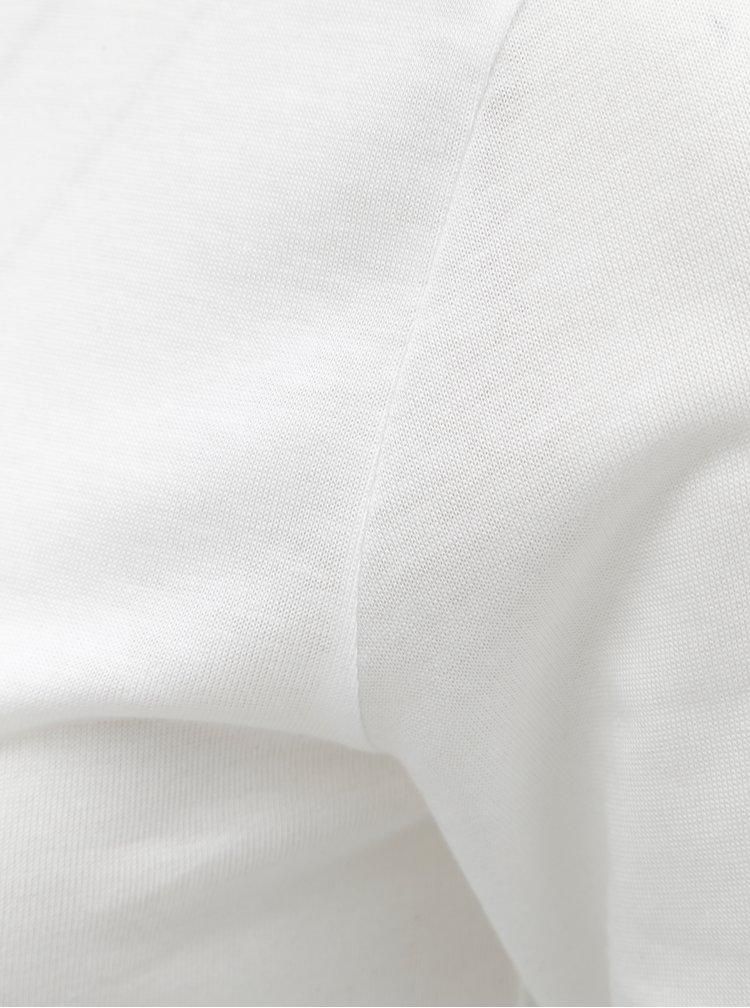 Biely tenký basic rolák s dlhým rukávom Rich & Royal