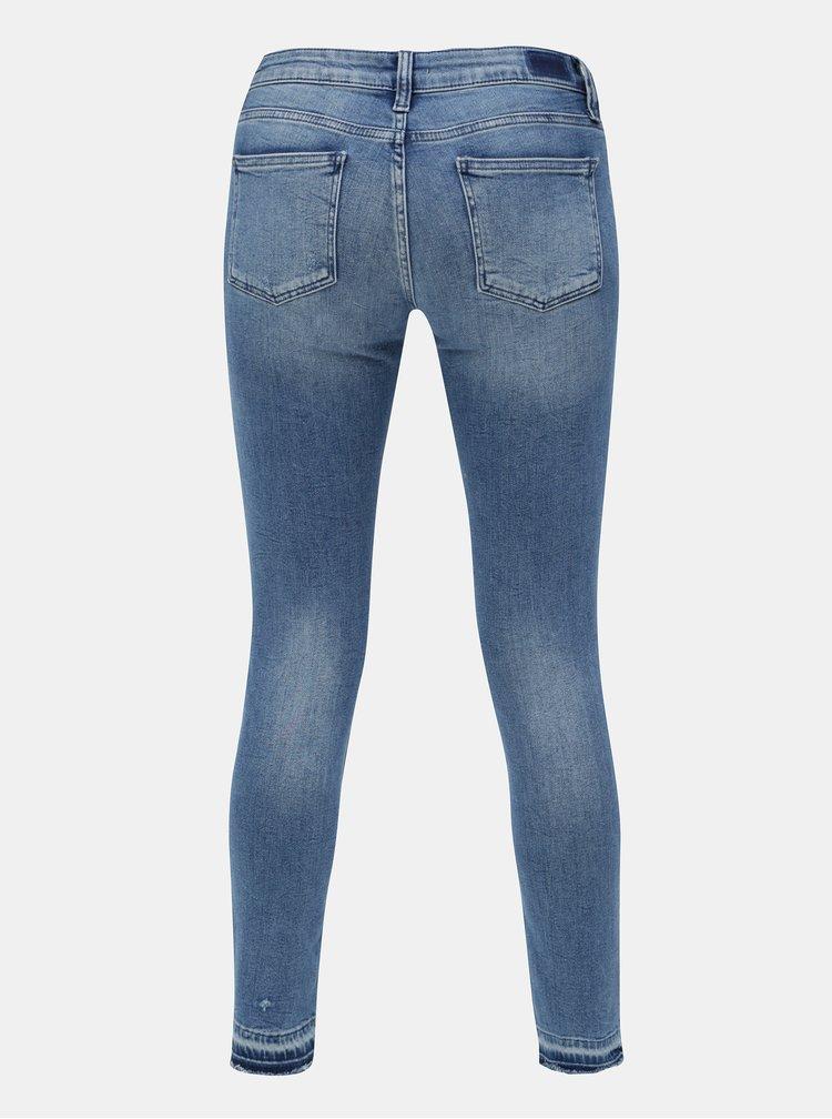 Modré super skinny džíny s nízkým pasem Rich & Royal