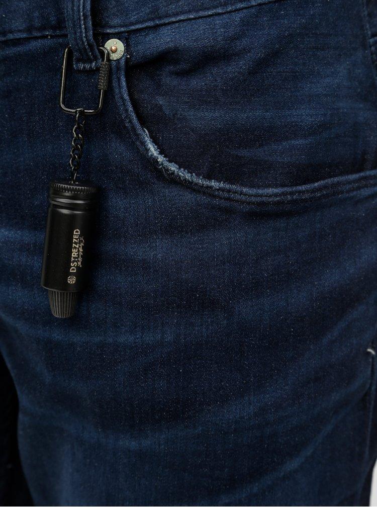 Blugi albastru inchis regular slim fit din denim Dstrezzed