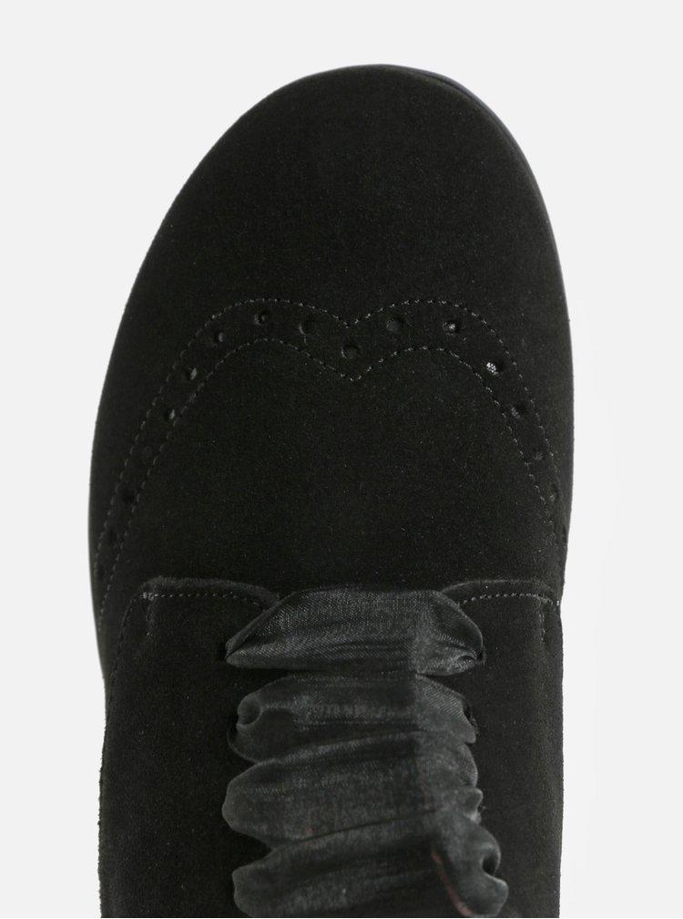 Černé semišové tenisky s brogue efektem OJJU