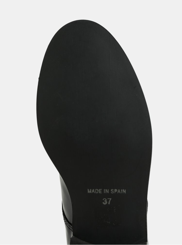 Černé kožené lesklé polobotky OJJU