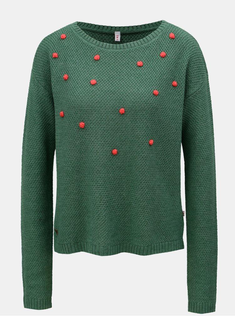 Zelený svetr s puntíky Blutsgeschwister