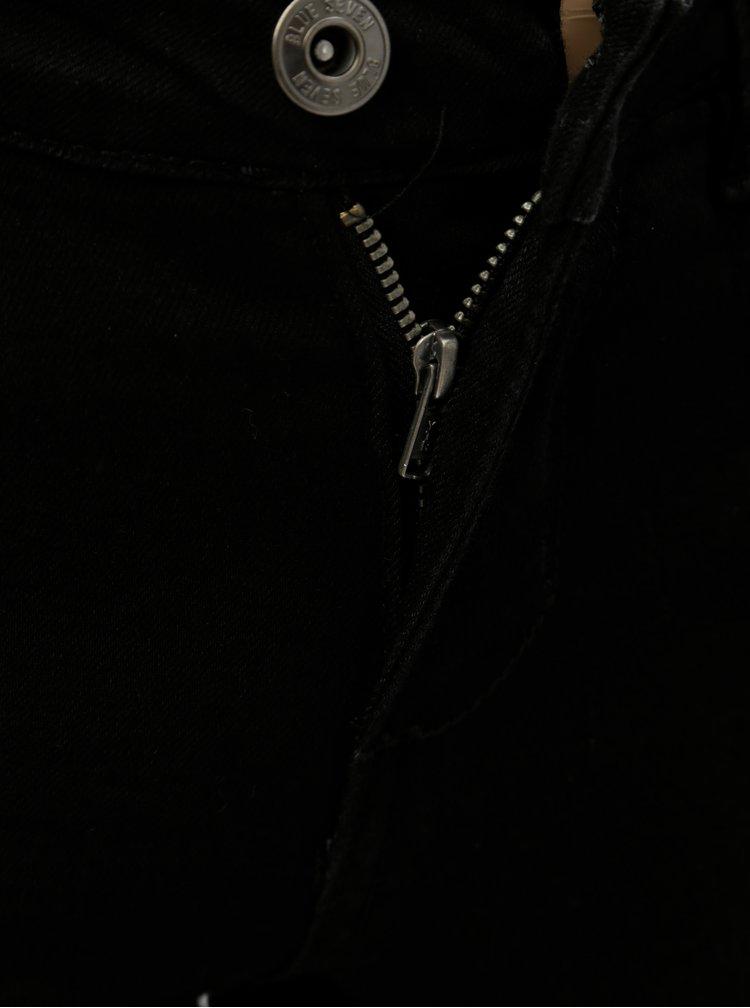 Černé holčičí džíny s nášivkami Blue Seven