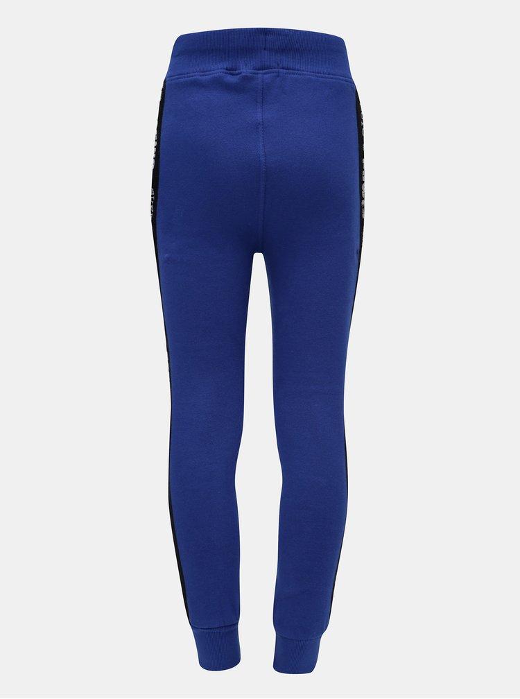 Modré klučičí tepláky s pruhem na nohavicích Blue Seven
