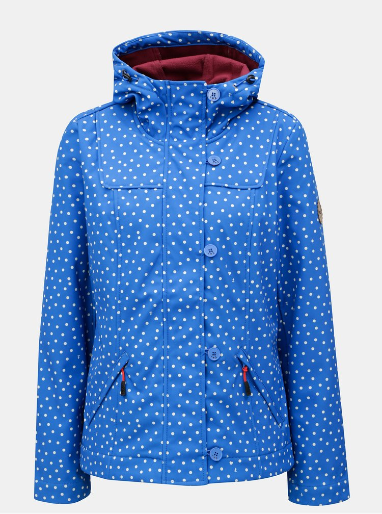 Modrá vzorovaná voděodolná bunda Blutsgeschwister