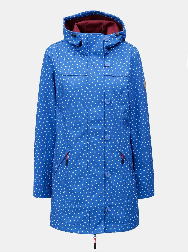 Modrý puntíkovaný voděodolný lehký kabát Blutsgeschwister