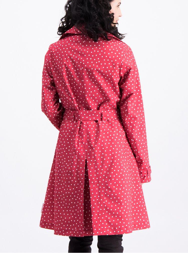 Červený vzorovaný kabát s páskem Blutsgeschwister