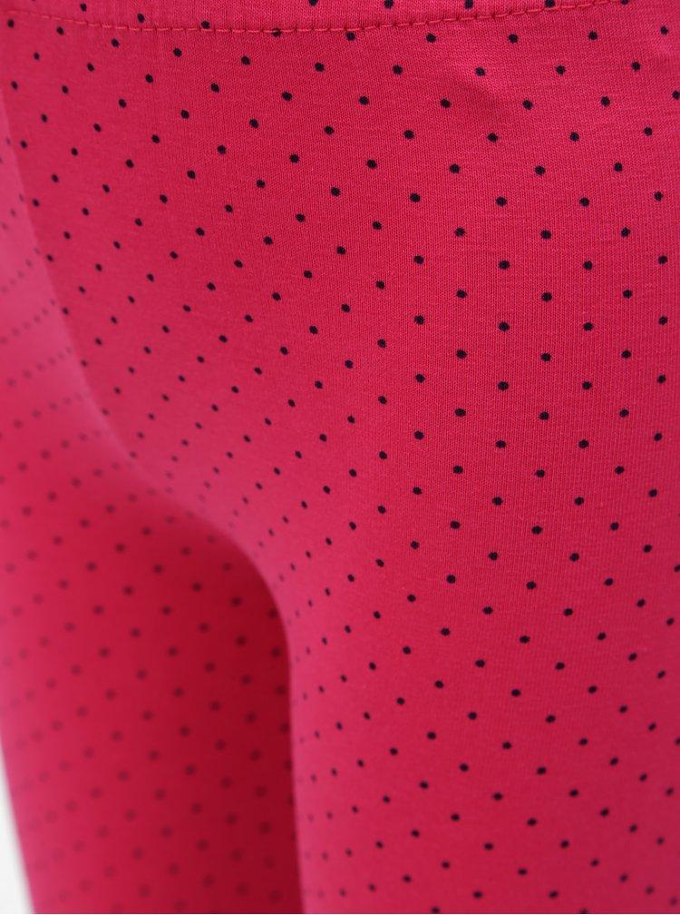 Růžové holčičí puntíkované legíny Blue Seven