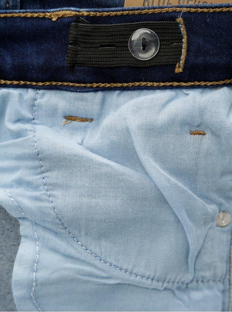 Tmavě modré klučičí džíny s vyšisovaným efektem Blue Seven