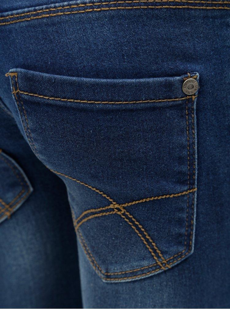 Modré holčičí džíny s vyšisovaným efektem Blue Seven
