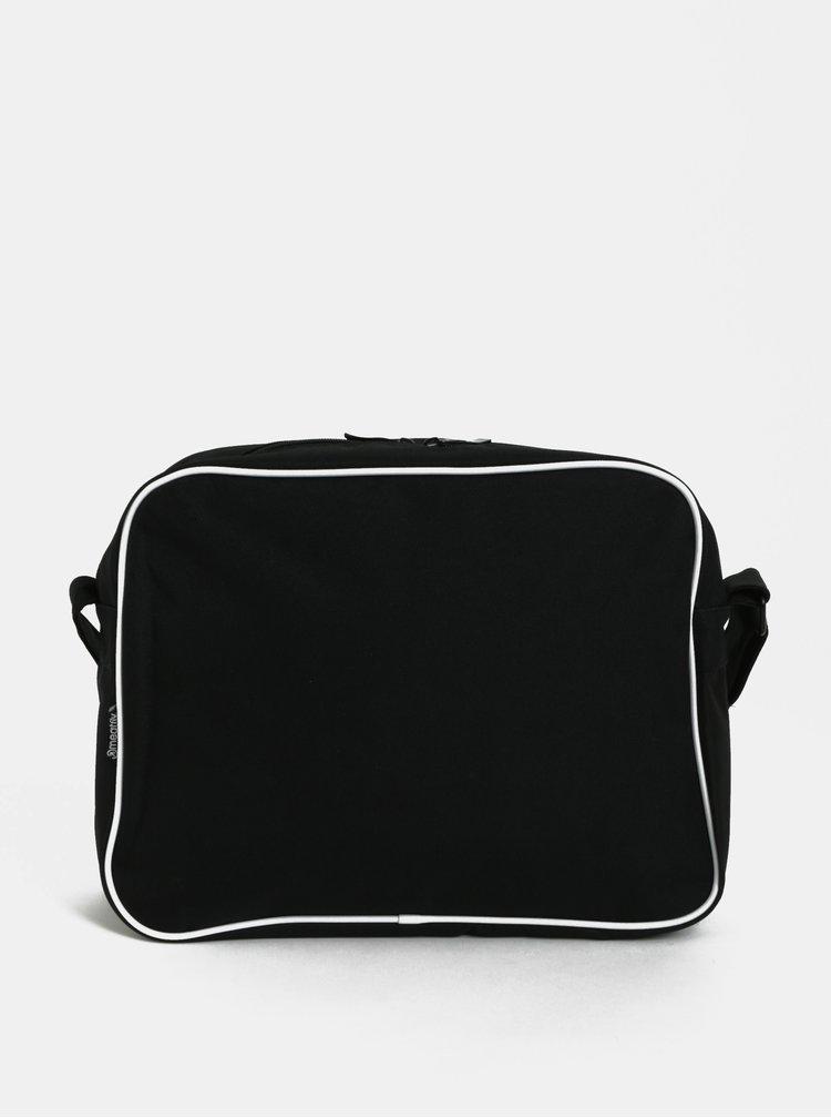 Černá žíhaná taška přes rameno Meatfly Gerome