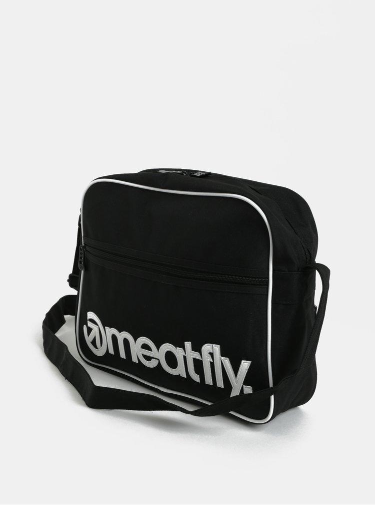 Čierna melírovaná taška cez rameno Meatfly Gerome