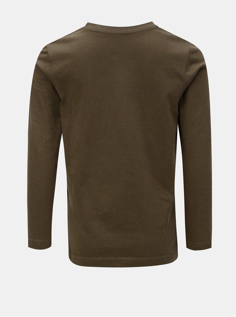 Khaki klučičí tričko s potiskem Blue Seven