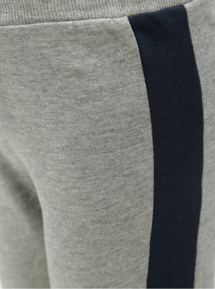 Modro-šedé klučičí žíhané tepláky Name it Mesa