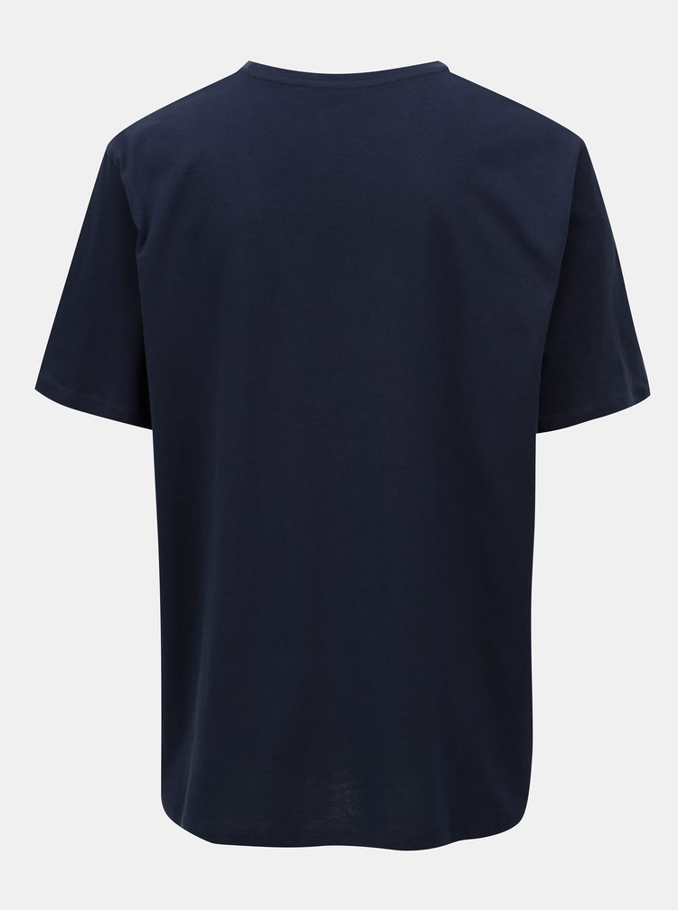 Tmavě modré tričko s potiskem Jack & Jones Pleo