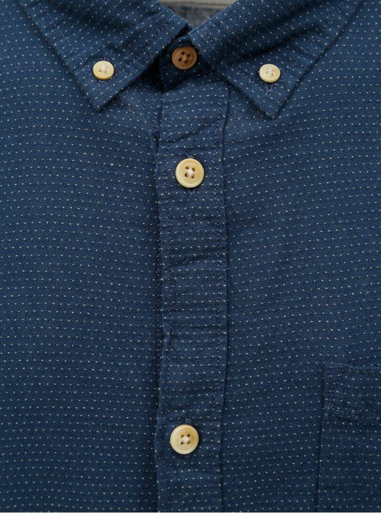 Modrá košile s náprsní kapsou Jack & Jones Portland