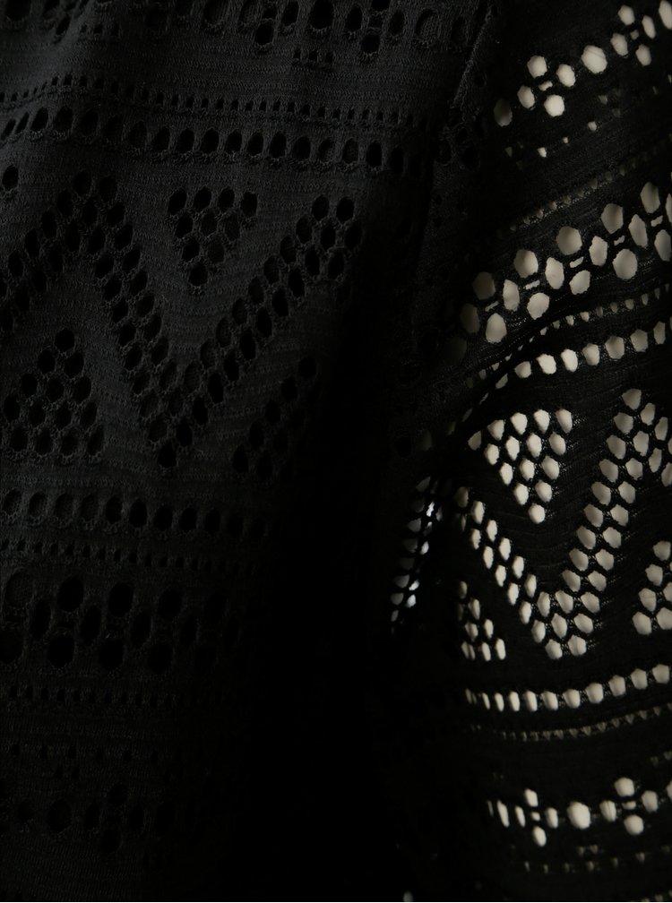 Rochie neagra din dantela cu snur in talie ONLY
