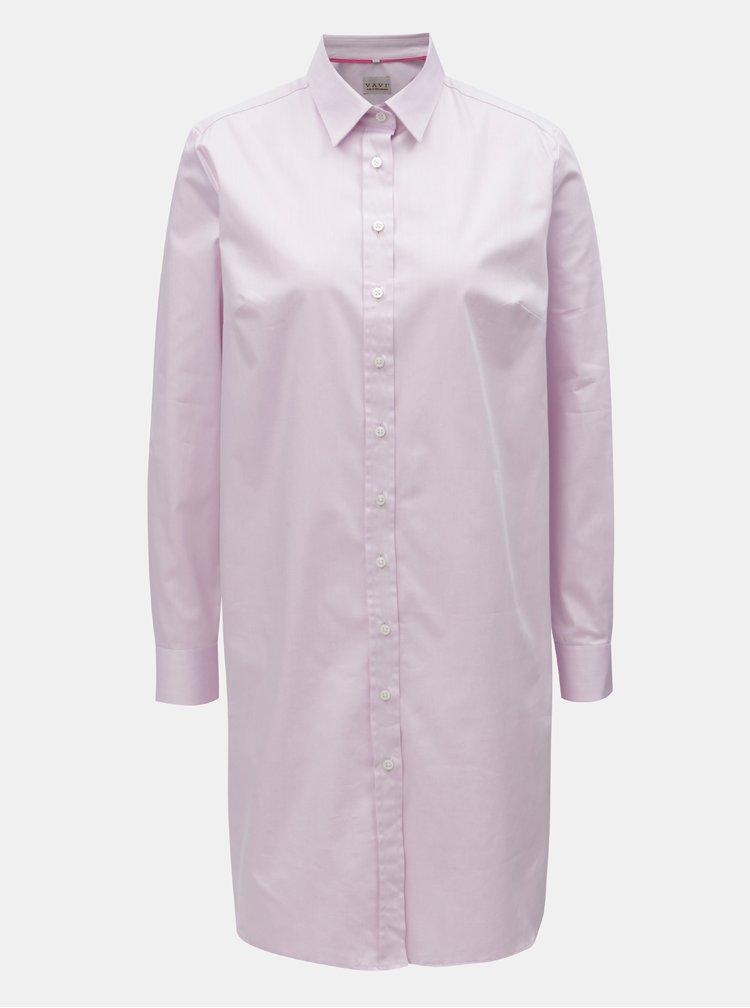 Růžové košilové šaty VAVI