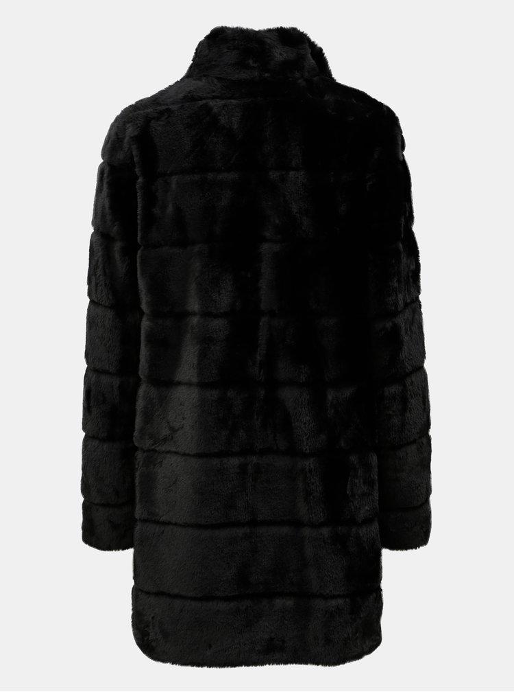 Čierny kabát z umelej kožušiny Dorothy Perkins