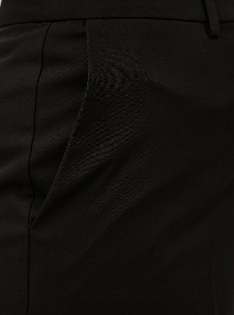Černé culottes s vysokým pasem a puky Dorothy Perkins