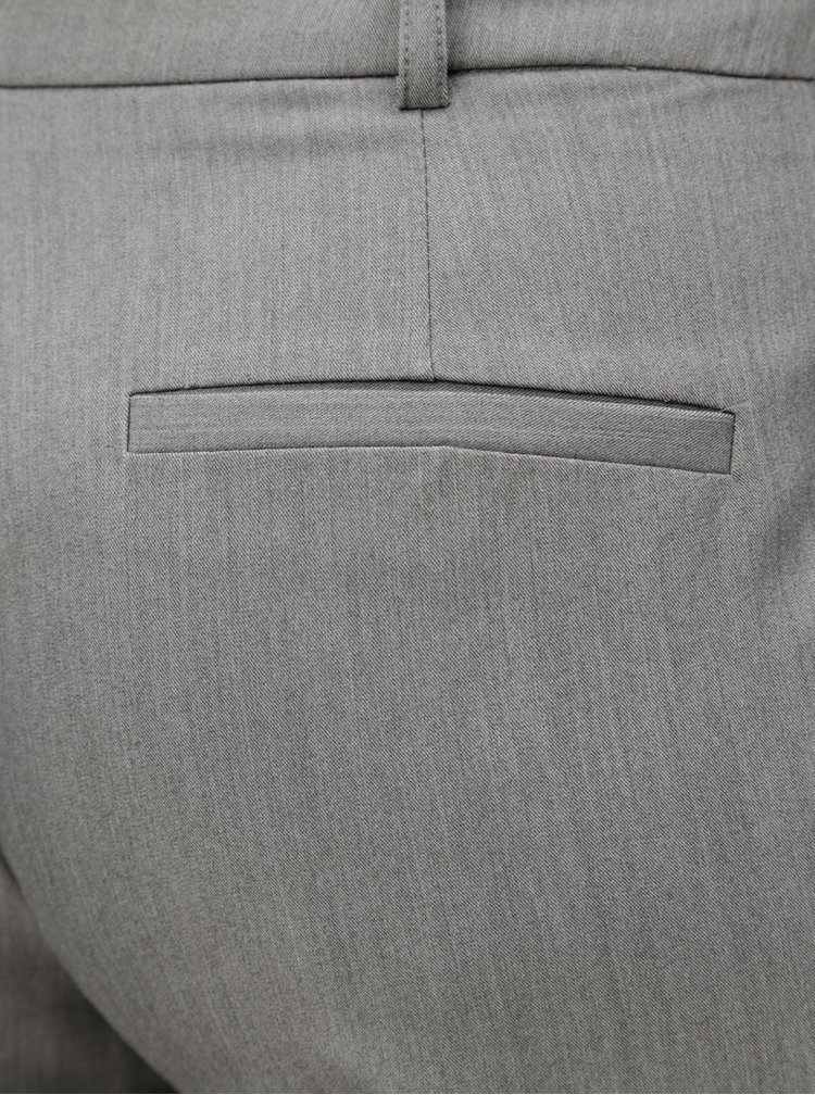 Šedé žíhané kalhoty s puky Dorothy Perkins