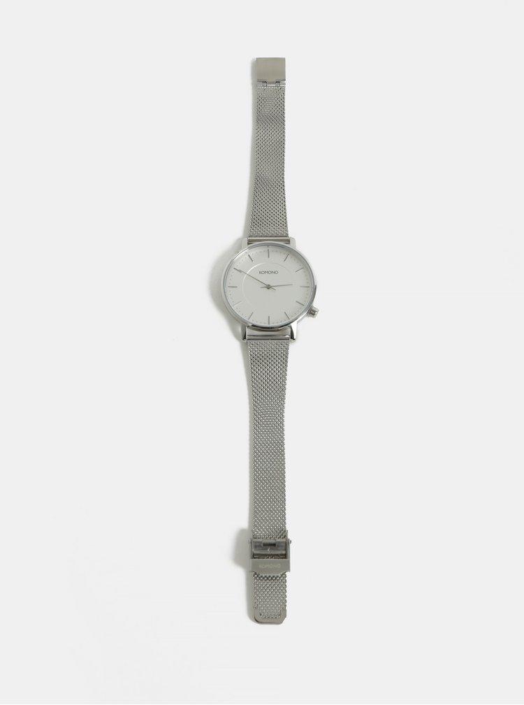 Dámské hodinky s nerezovým páskem ve stříbrné barvě Komono