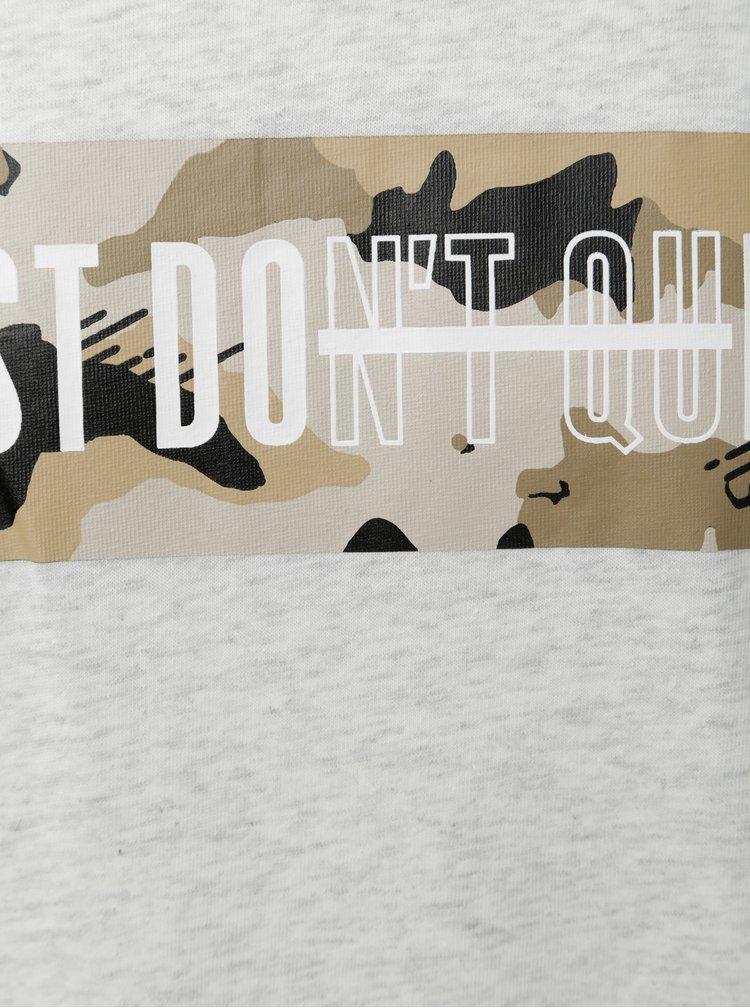 Tricou barbatesc gri deschis melanj Nike
