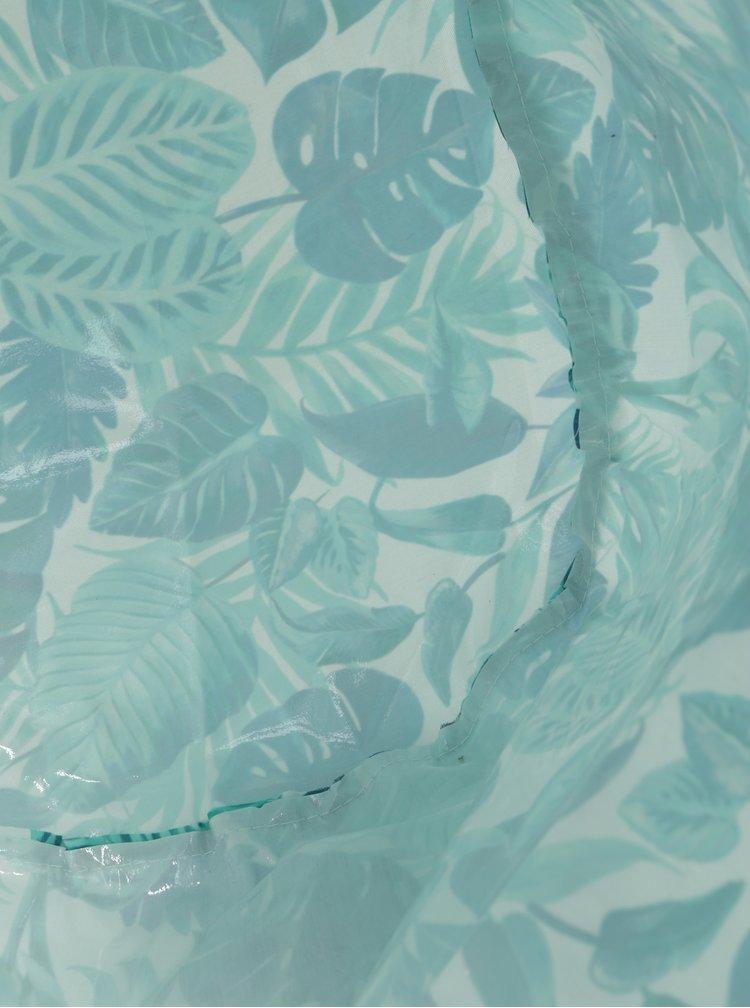 Bílo-zelený skladovací koš s tropickým potiskem Sass & Belle Botanical Jungle