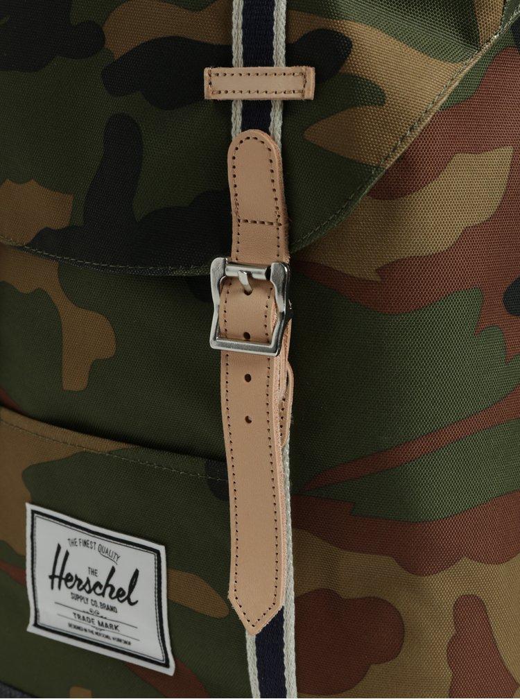 Zelený maskáčový batoh Herschel Retreat 19,5 l
