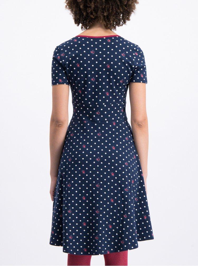 Tmavě modré puntíkované šaty Blutsgeschwister