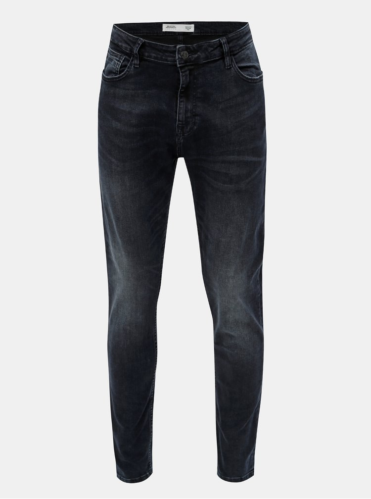 Blugi albastri stretch din denim Burton Menswear London