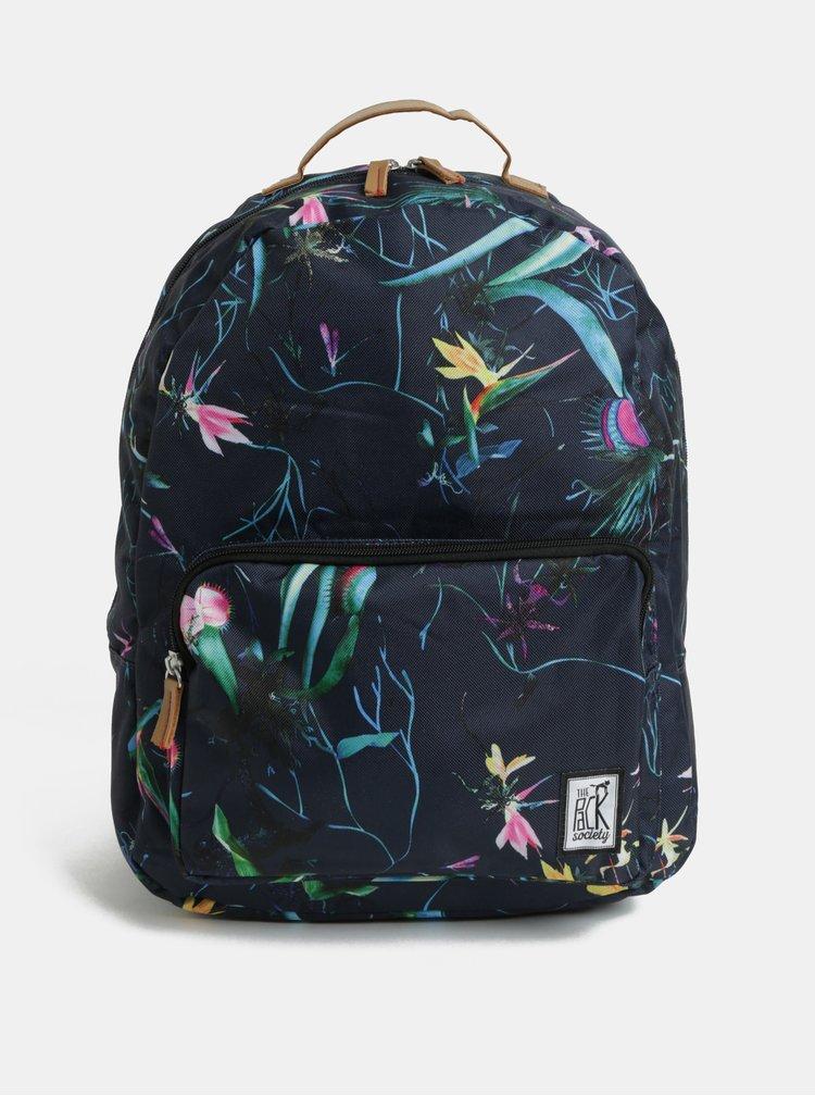 Modrý vzorovaný dámský batoh The Pack Society 18 l
