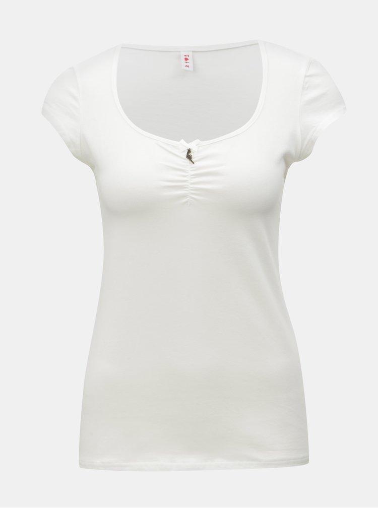 Krémové tričko s krátkým rukávem Blutsgeschwister