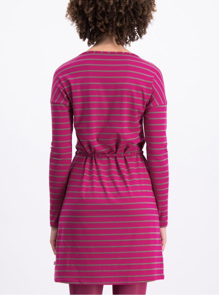 6ffcb92bccb Šedo-růžové pruhované šaty s dlouhým rukávem Blutsgeschwister