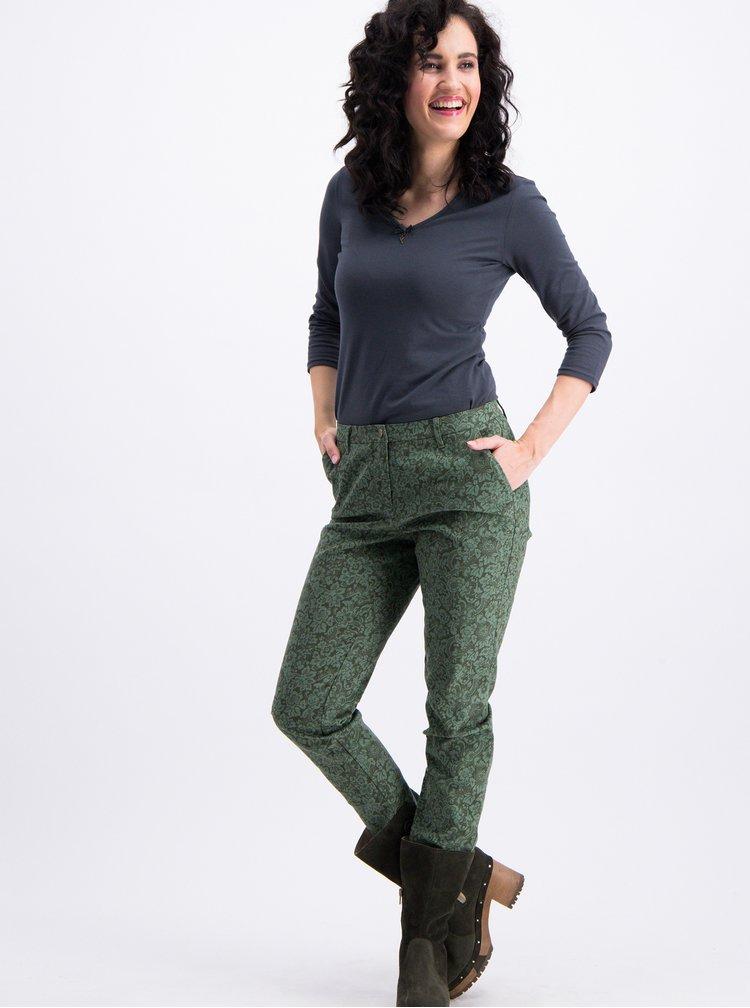 Zelené květované kalhoty Blutsgeschwister
