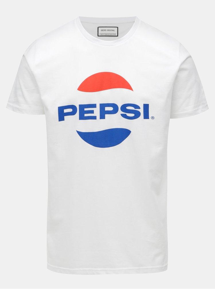 Biele tričko s potlačou Shine Original Pepsi