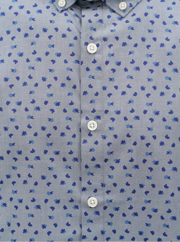 Světle modrá košile s drobným vzorem Lindbergh