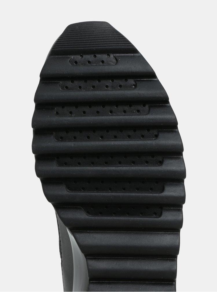 Černé prošívané tenisky Geox Tabelya