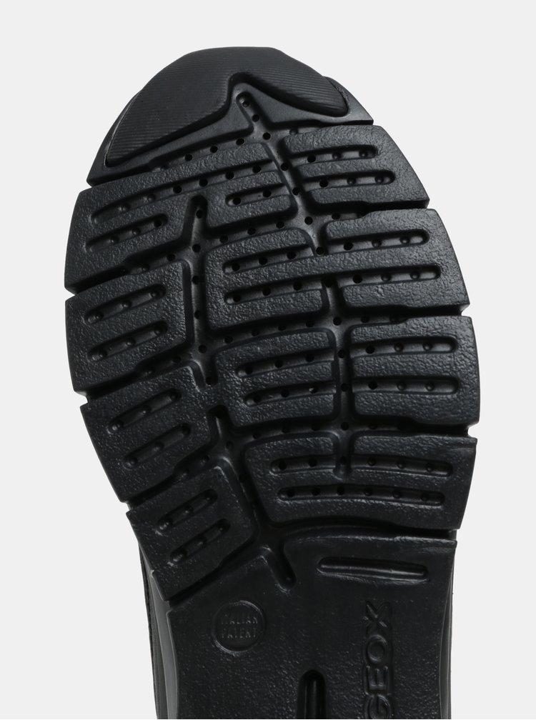 Čierne kožené tenisky Geox Sukie