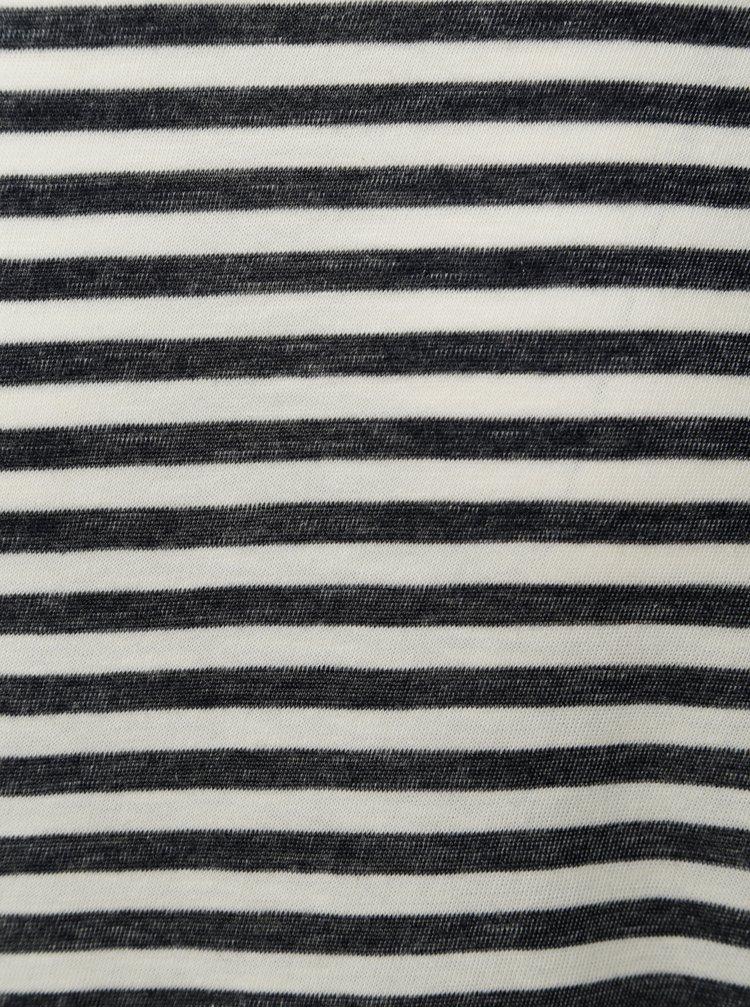 Tricou crem-albastru in dungi JUNK de LUXE