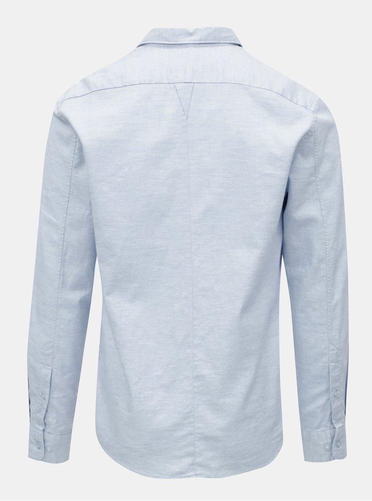 Modrá žíhaná košile JUNK de LUXE