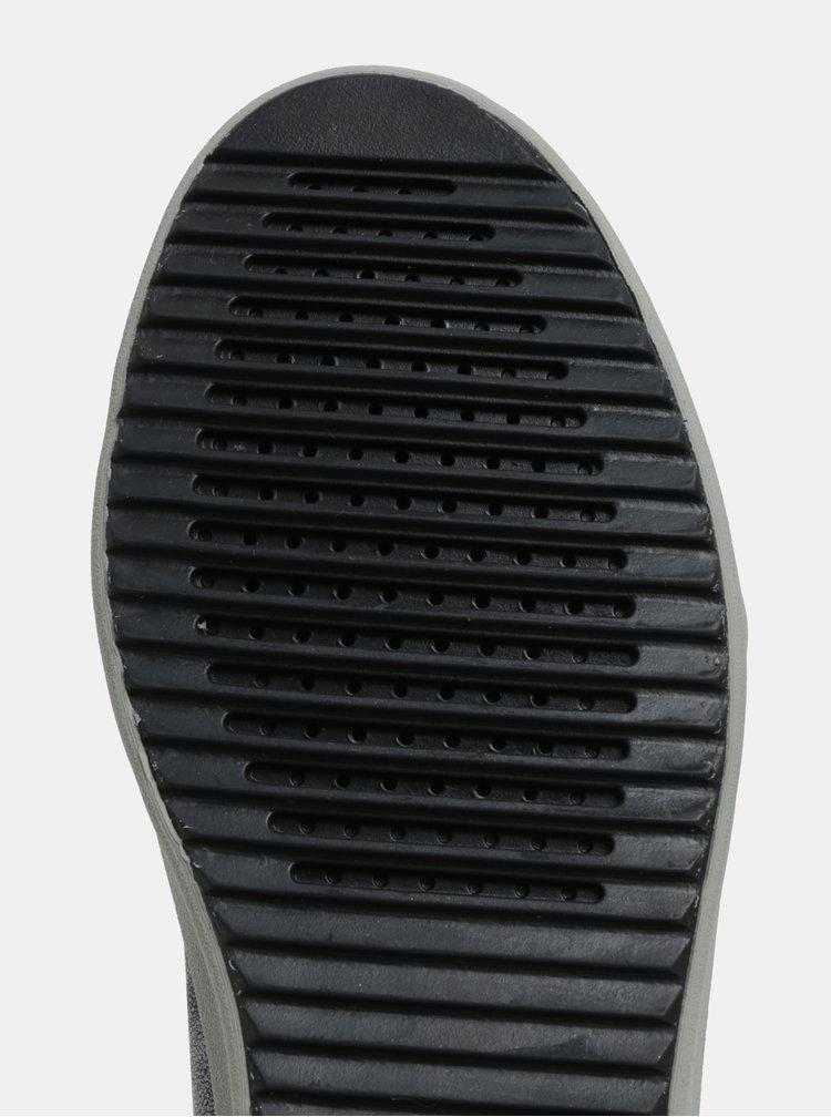 Tmavosivé tenisky so striebornými odleskami Geox Blomiee