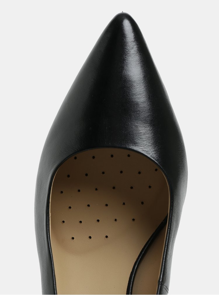 Černé kožené lodičky Geox Bibbiana