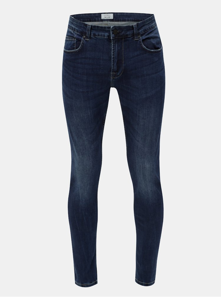 Blugi albastri skinny din denim ONLY & SONS