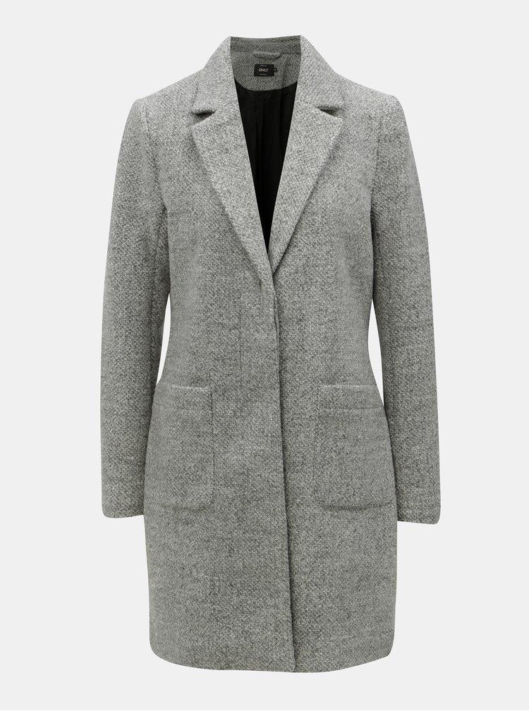 Pardesiu lejer gri cu amestec de lana ONLY