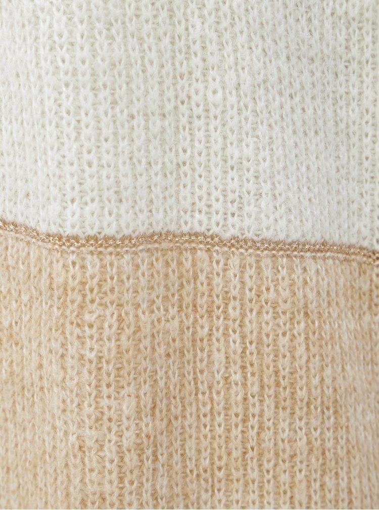 Béžovo-bílý pruhovaný kardigan ONLY