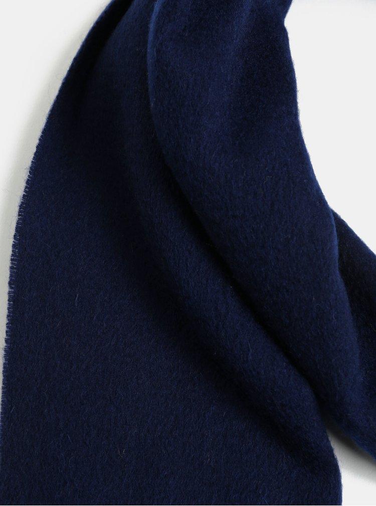 Tmavě modrá vlněná šála Selected Femme